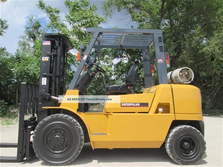 2007 Caterpillar Gp40k Forklift Lift Truck Hi Lo Fork,  8000lb Cap,  Pneumatic Tire Forklifts photo