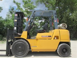 2007 Caterpillar Gp40k Forklift Lift Truck Hi Lo Fork,  8000lb Cap,  Pneumatic Tire photo