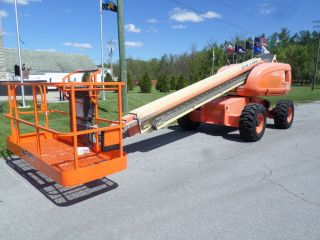 Jlg 600s 60 ' Boom Lift Manlift Man Lift Aerial Telescopic Boomlift Gen Set photo
