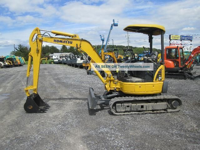 Komatsu Pc30mr - 2 Farm Mini Excavator Tractor Dozer Excavators photo