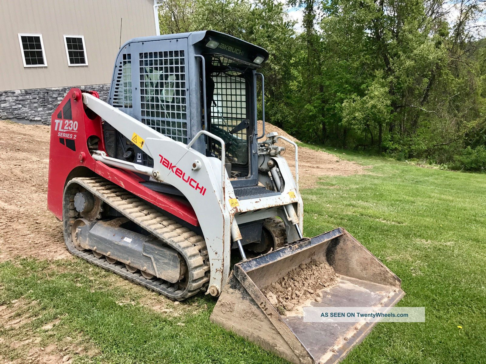 2011 Takeuchi Tl230 Series 2 Skid Steer Kubota Diesel Heat A/c Radio Skid Steer Loaders photo