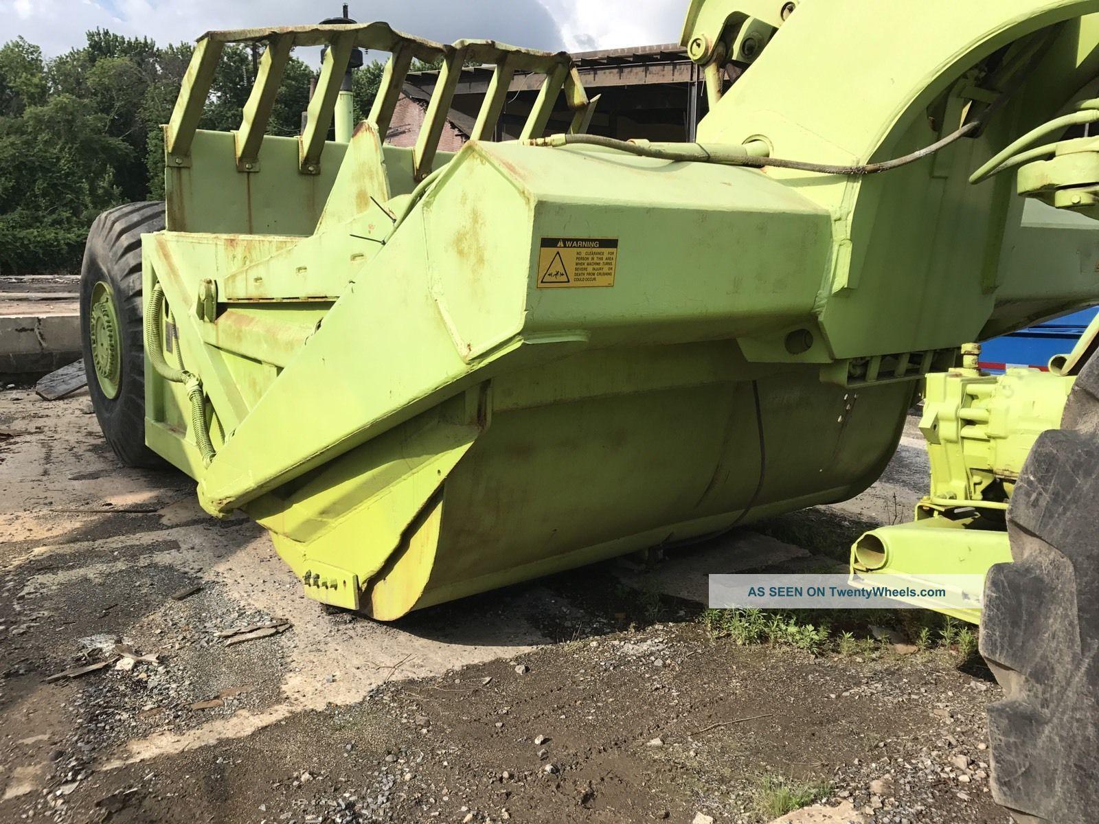 Terex Ts14 Scraper Recent Service And Parts Runs Good