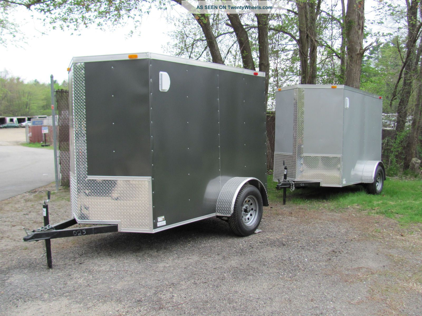 5x8 V - Nose Enclosed Cargo Trailer W/ramp Pick Up In Ma Or Nh Trailers photo