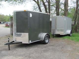 5x8 V - Nose Enclosed Cargo Trailer W/ramp Pick Up In Ma Or Nh photo
