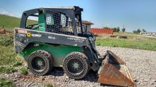 2011 John Deere 318d 318 Skid Steer Solid Tire Hand Foot Controls photo