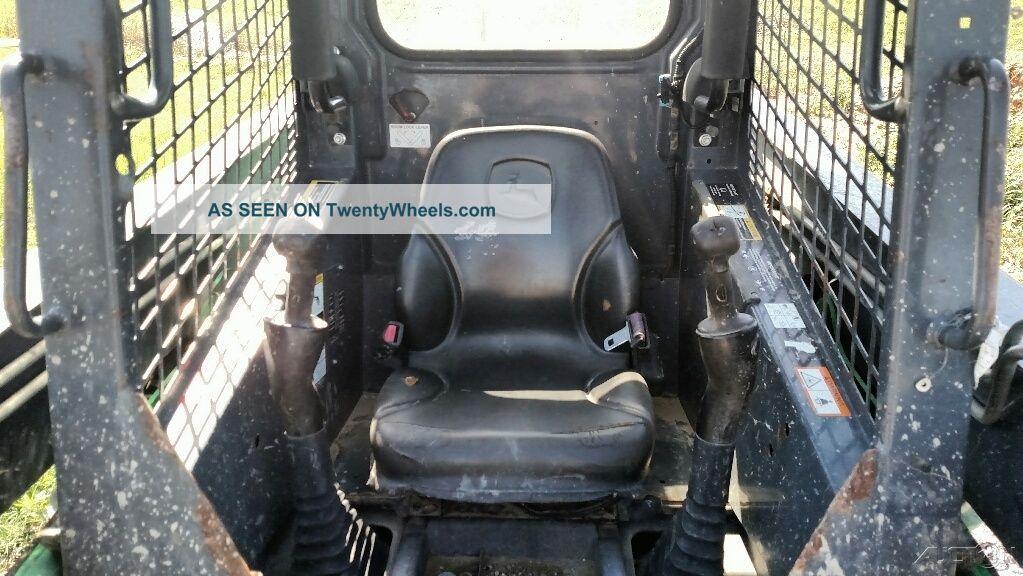 Skid Steer Controls : John deere d skid steer solid tire hand foot