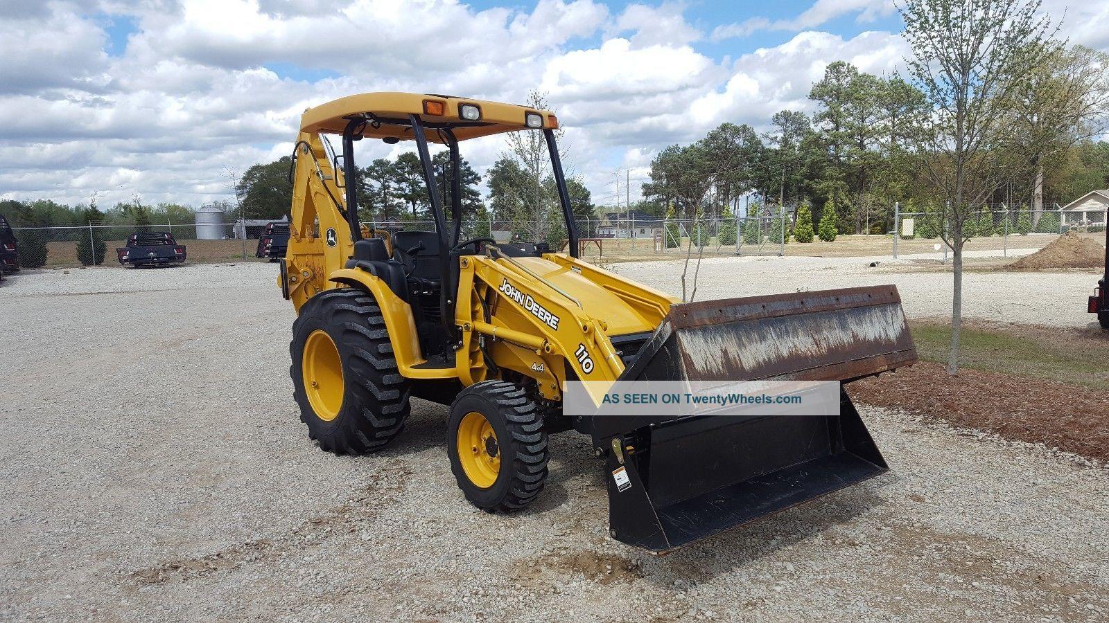 John Deere 110 Tlb  25.  1 Hours Barn Find Tractors photo