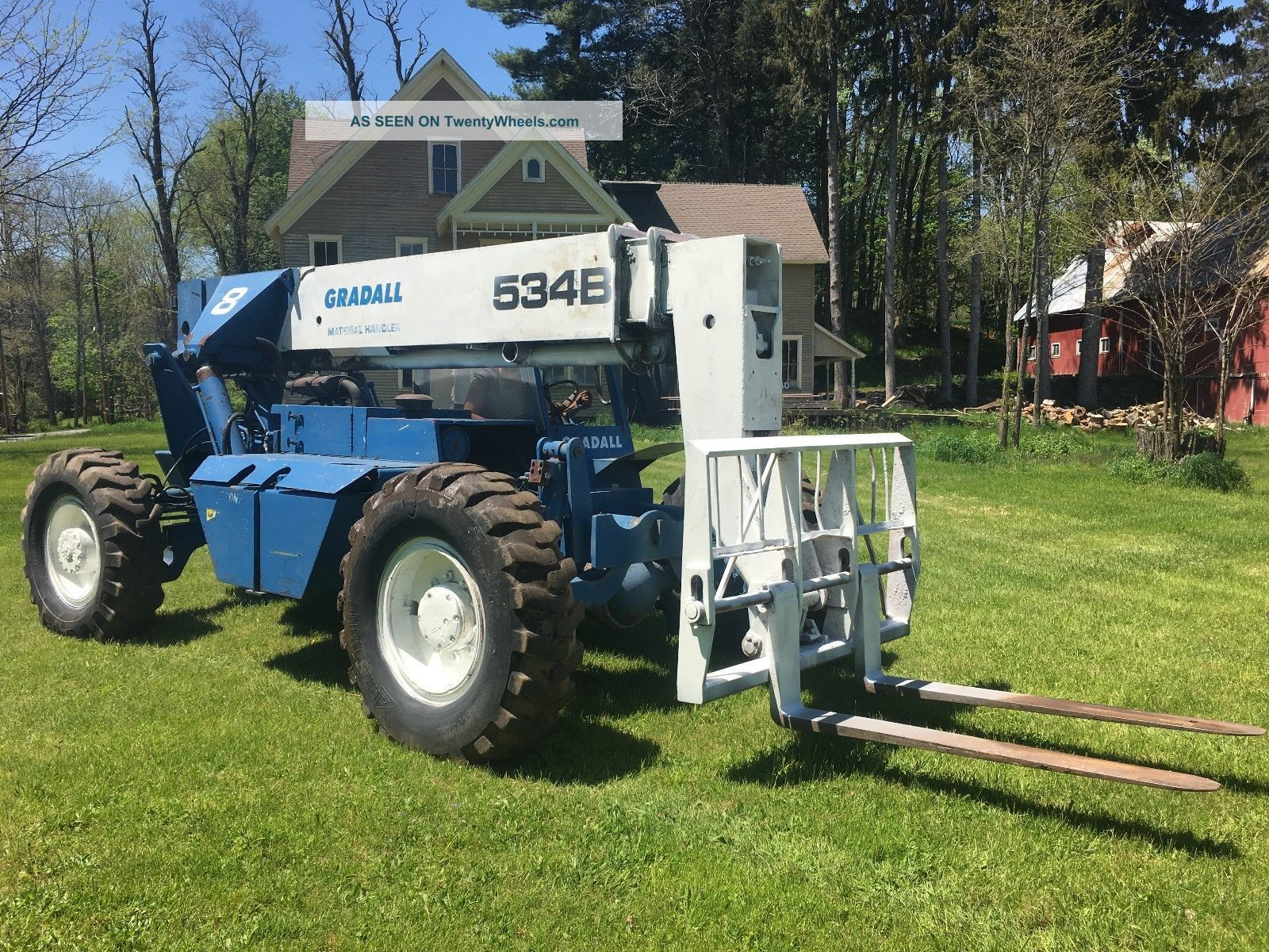 Gradall 534b 4x4 Telescoping Rough Terrain Forklift Forklifts photo