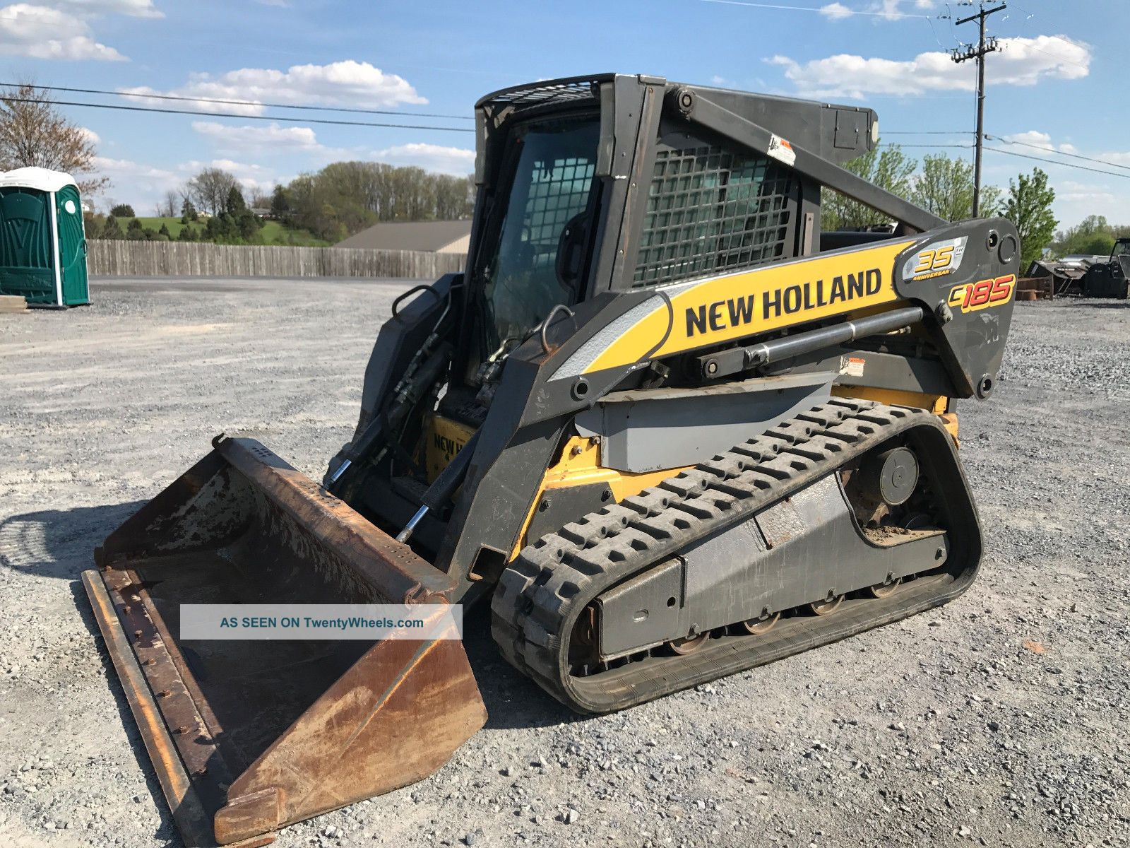 2009 Holland C185 Tracked Skid Steer Loader W/ Cab Skid Steer Loaders photo