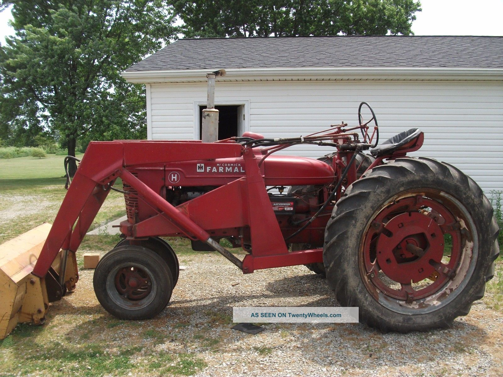 Farmall Tractor With Loader : Farmall h tractor front end loader