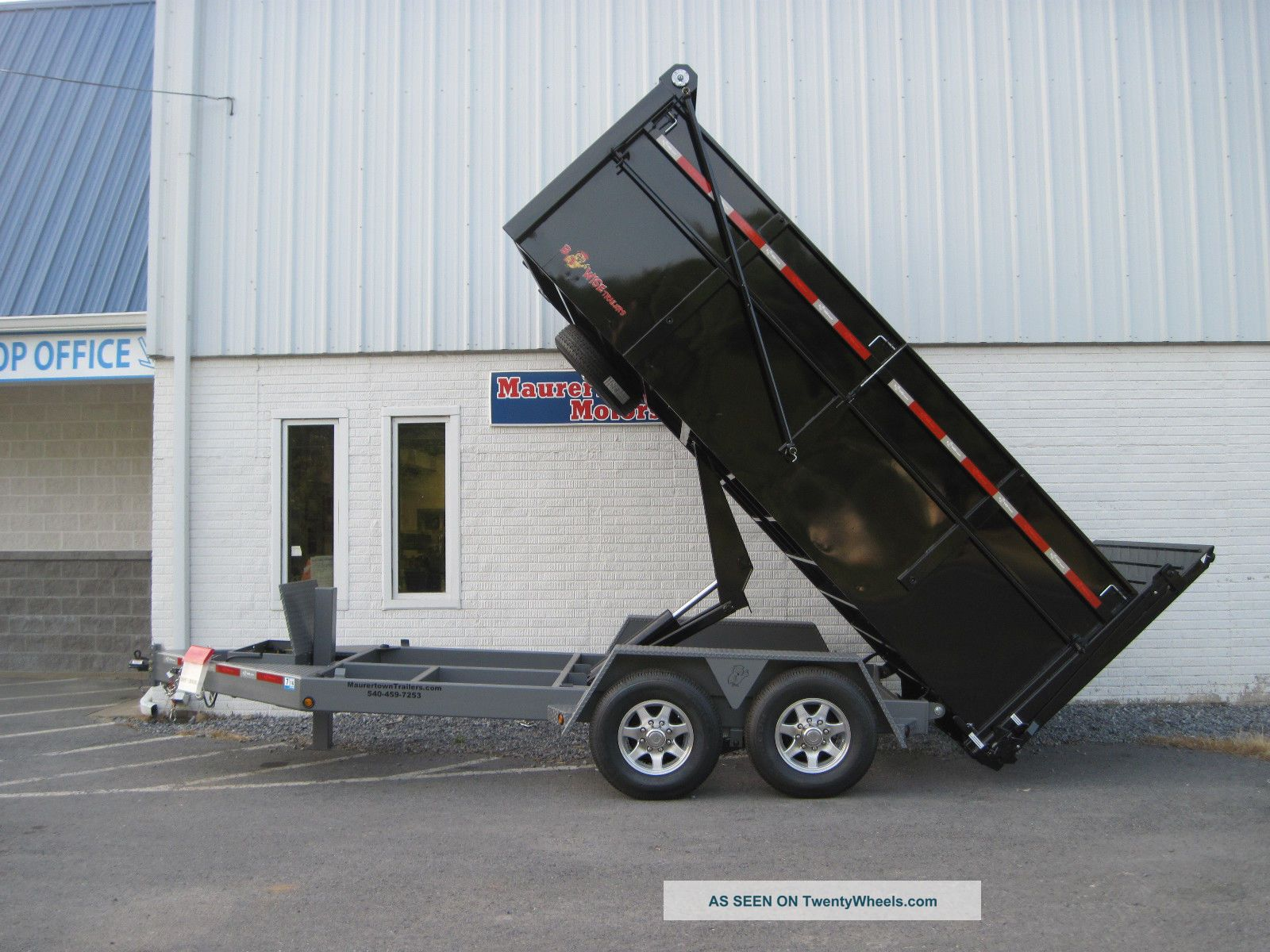 Bwise Ultimate Dump Trailer - Hydraulic Gate & Jack,  Tarp,  Fold Down Sides Trailers photo