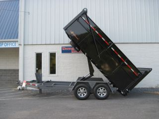 Bwise Ultimate Dump Trailer - Hydraulic Gate & Jack,  Tarp,  Fold Down Sides photo