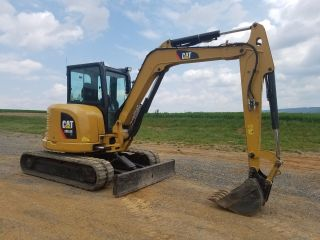 2012 Caterpillar 305.  5e Cr Mini Excavator Track Hoe Hydraulic Plumbed Blade Cat. photo
