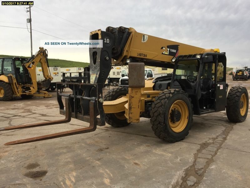 2012 Cat Tl1055c Telescopic Forklift 10,  000lbs Lift Cap Cat Diesel Engine Scissor & Boom Lifts photo