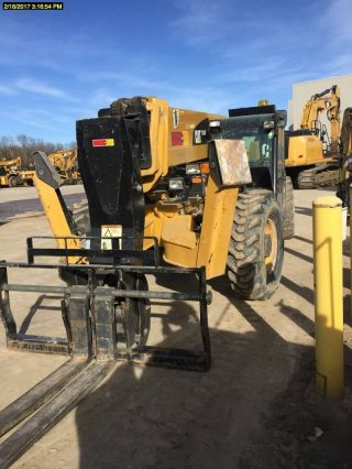 2013 Cat Tl1055c Telescopic Forklift 10,  000lbs Lift Cap Cat Diesel Engine photo