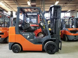 2011 Toyota 8fgcu30 6000lb Cushion Forklift Lpg Lift Truck Hi Lo 83/240 photo