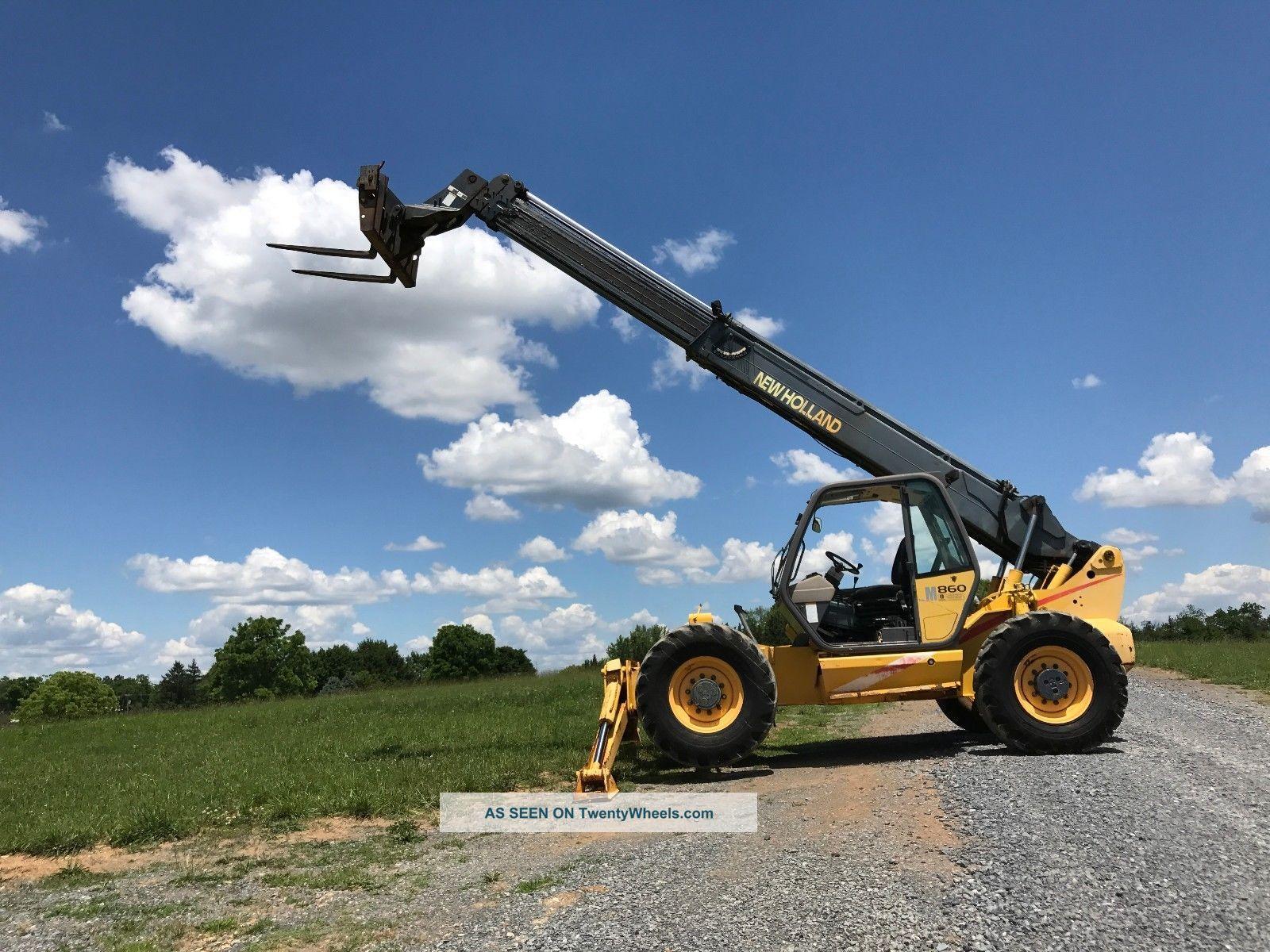 Holland Lm860 Telehandler 10,  000 Lb Capacity Diesel Loader 4 X 4 Bob Cat Forklifts photo