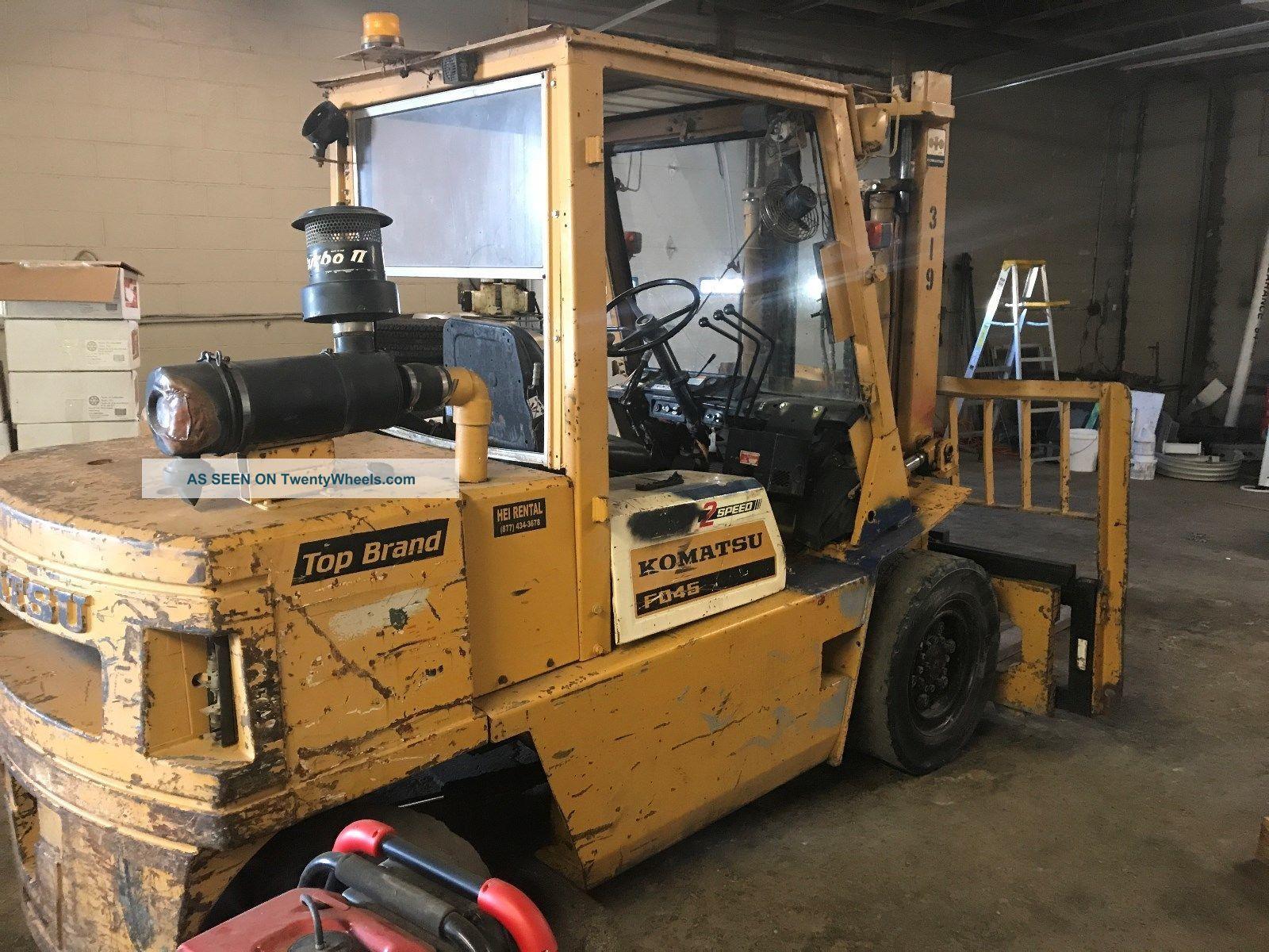 10,  000lb Komatsu Diesel Forklift Forklifts photo