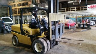 2010 Yale Gdp120vx 12000lb Dual Drive Diesel Forklift photo