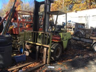 Clark Diesel 8000 Lb Dual Wheel Fork Lift C500 - Y80 photo
