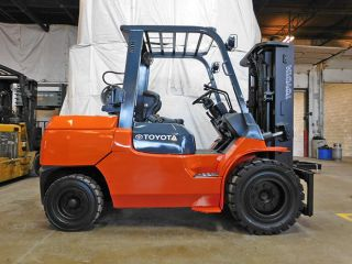 2006 Toyota 7fgu45 10000lb Pneumatic Forklift Lpg Lift Truck Hi Lo 81/159 photo