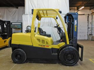 2009 Hysterh100ft 10000lb Pneumatic Forklift Lpg Lift Truck Hi Lo 86/163 photo