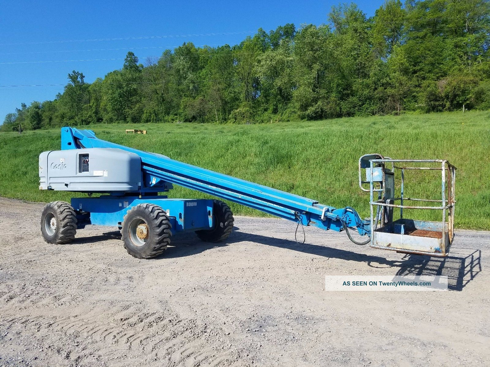 1999 Genie S60 Boom/man Lift Gasoline Engine Construction Machine Telescopic 4x4 Scissor & Boom Lifts photo