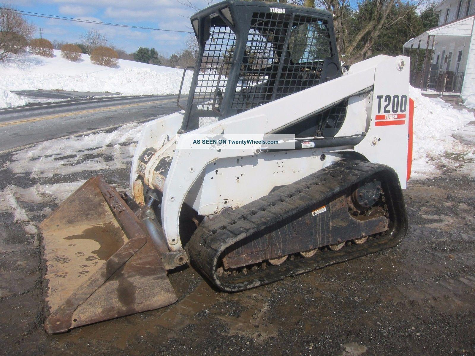 Bobcat Skid Steer Track Loader : Bobcat t compact track loader skid steer hrs tags