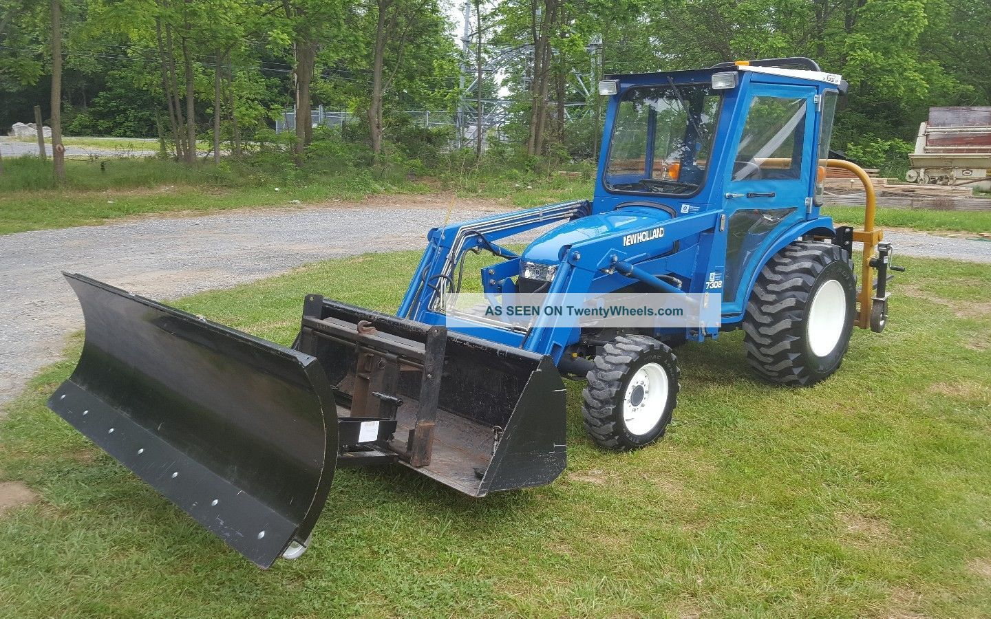 1998 Holland 1630 Compact Tractor W/loader & Curtis Cab