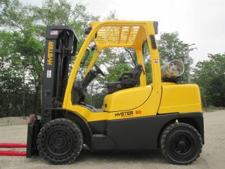 2012 Hyster H80ft Forklift Lift Truck Hi Lo Lift 8,  000lb Cap,  Pneumatic Tire photo