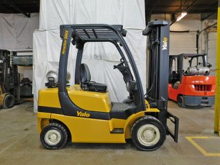 2005 Yale Glpl050vx 5000lb Solid Pneumatic Forklift Lpg Lift Truck Hi Lo 90/200 photo