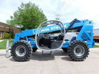 2008 Genie Gth - 844 8000lb Pneumatic Telehandler Telescopic Forklift 4x4x4 photo