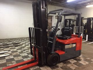 2010 Toyota 4000 Pound Electric Forklift With Side Shift Triple Mast 3 Wheel photo