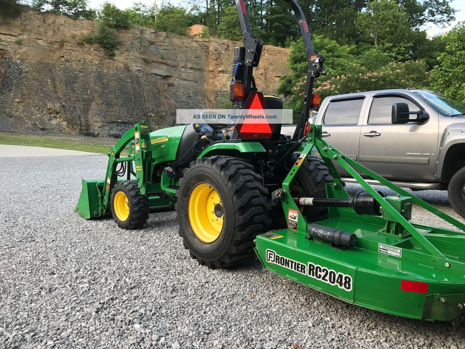 John Deere Bush Hog : John deere compact tractor ag utility hp w