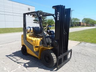 Tcm Pneumatic Forklift - 5,  000 Lbs Capacity - Ready For Work photo