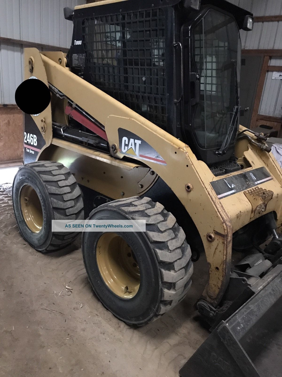 Caterpillar 246b Skid Steer.  Enclosed Cab Door W/ Heat.  Pilot Controls,  Exc Cond Skid Steer Loaders photo