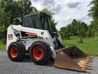 Bobcat S220 Skid Steer Loader Enclosed Cab W/ Heat Cheap photo