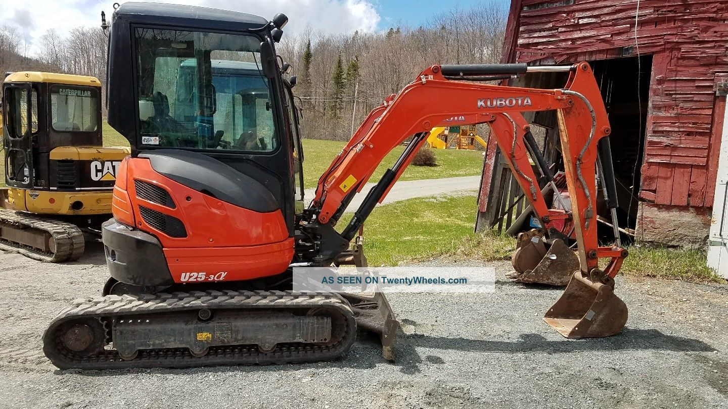 2014 Kubota U25 Zero Tail Swing Mini Excavator Excavators photo