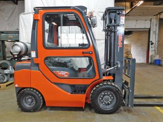 2017 Viper Fy25 5000lb Pneumatic Lift Truck Lpg Forklift Cab Nissan K25 Engine photo