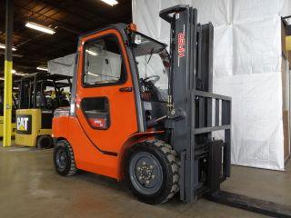 2017 Viper Fd30 Forklift 6000lb Pneumatic Forklift W/ Cab Diesel Lift Truck photo