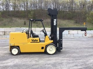 2006 Yale 18000 Cap Forklift Cushion Tire Lift Truck With Rigger Boom photo