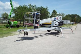 69 ' Towable Self Propelled Boom Lift,  Hydraulic Controls,  38 ' Outreach photo