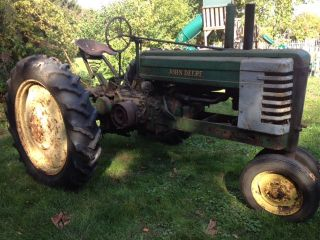 1941 John Deere B Antique Farm Tractor photo