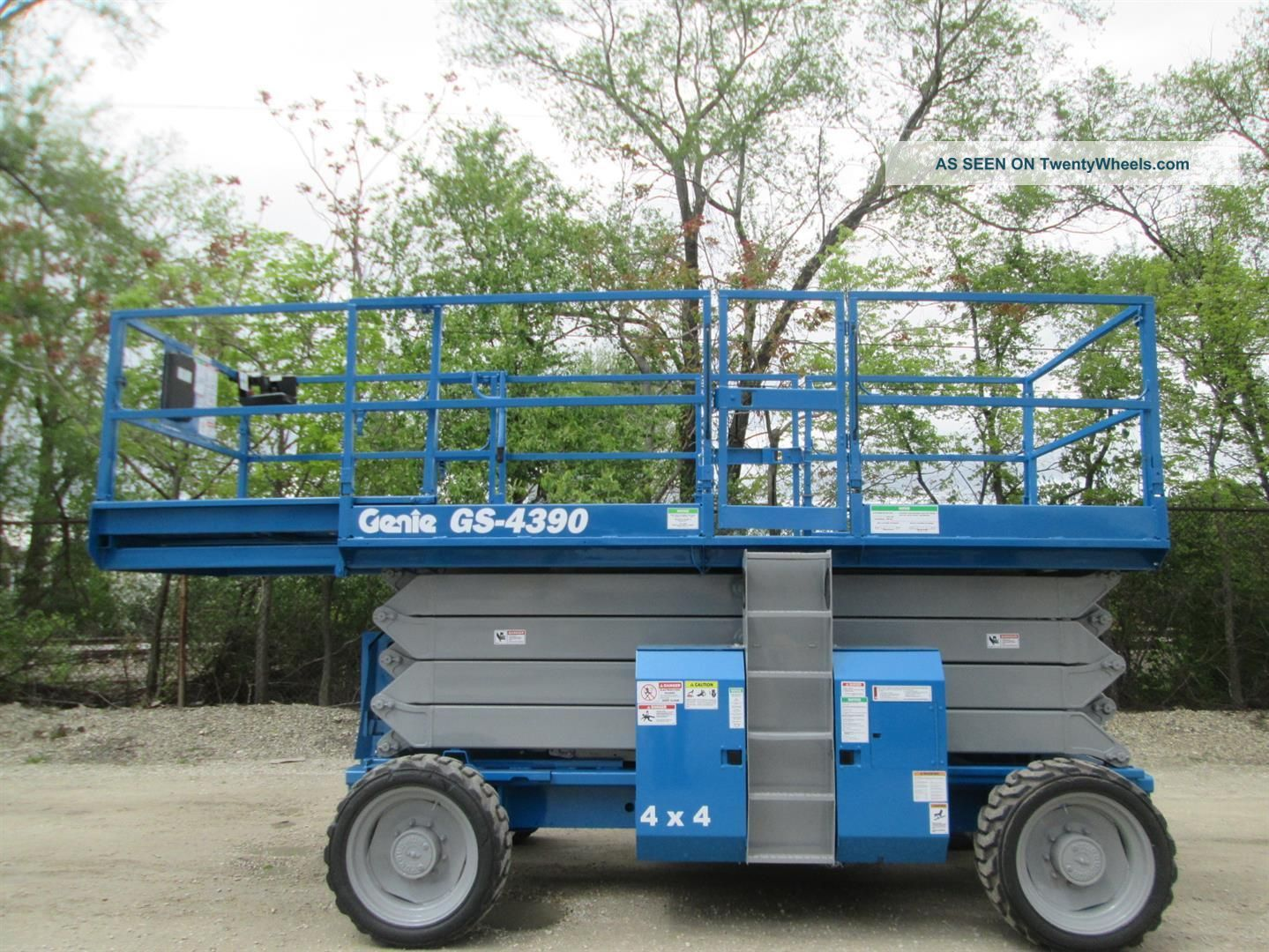2006 Genie 4390rt 4wd Rough Terrain Scissor Lift Manlift Boom Aerial Lift Scissor & Boom Lifts photo