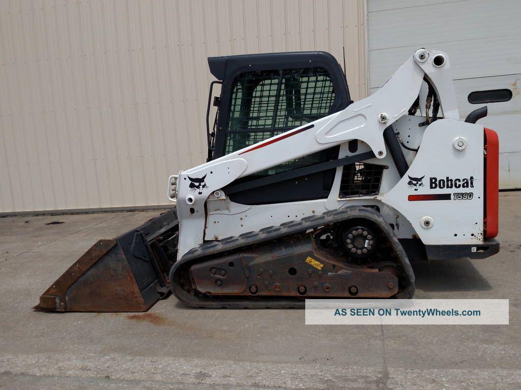 2014 Bobcat T590 Cab/heat/ac, Radio, Power Bobtach, 66hp
