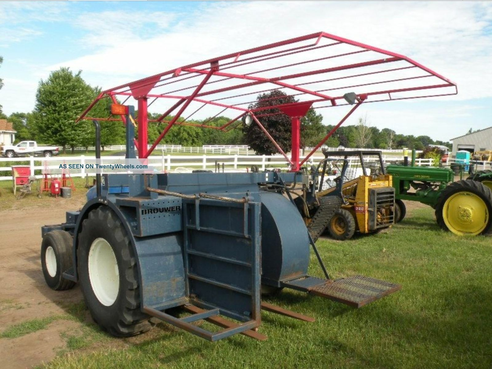 Holland Tractor Tn65 & Brouwer Sod Harvester Turf Grass 4000