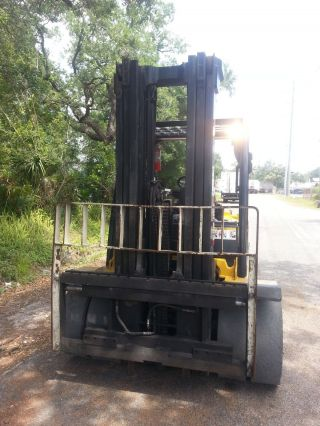 Yale Fork Lift 11000 Lb Diesel Cummins 2007 Gdp100vx 3 Stage Side Shift photo