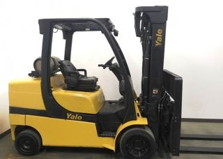 10,  000 Lb Yale Gc100vx Forklift Side Shift Fork Positioning Attachment Mfg 2013 photo