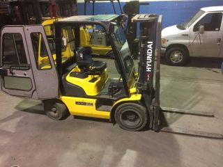 2014 Hyundai 30d - 7e Outdoor Diesel Forklift 6,  000 Lbs Cap 3 Stage W/side Shift photo