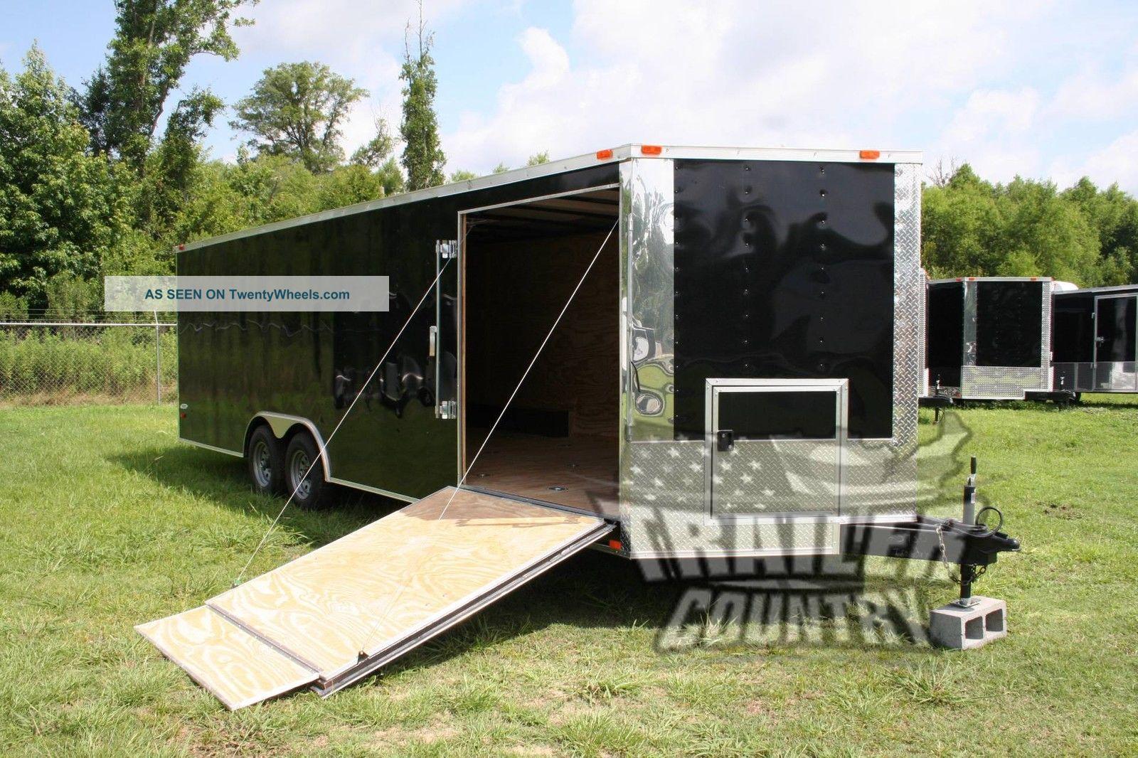 2017 8.  5x24 8.  5 X 24 V - Nosed Enclosed Bike Atv Cargo Car Toy Hauler Trailer Trailers photo